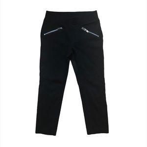 Gymboree Girls Leggings with Zipper Detail Size 5